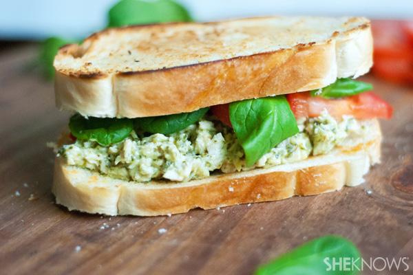 Rotisserie pesto chicken salad sandwiches recipe