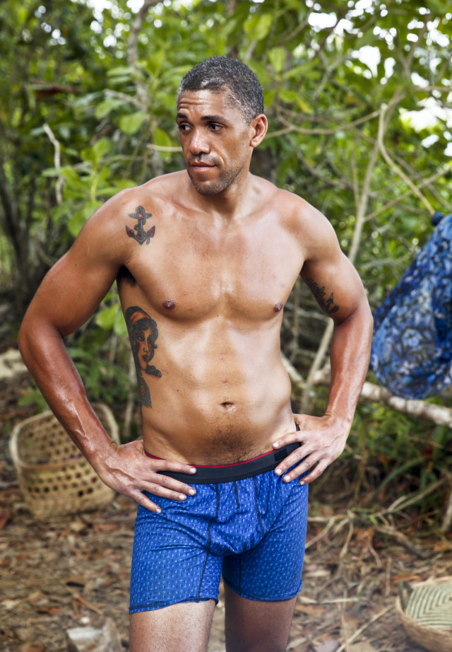 Peter Baggenstos at Brains tribe camp on Survivor: Kaoh Rong
