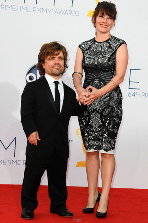 Peter Dinklage with his wife at the Emmys