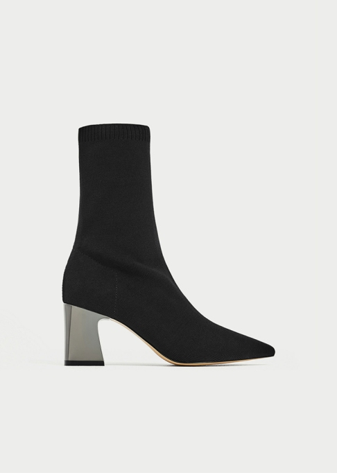 Fall Boots To Shop Before They Sell Out: Zara Fabric High Heel Boots | Fall Fashion Trends 2017