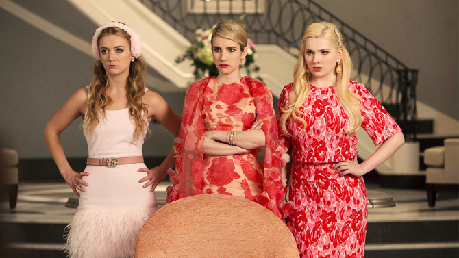 SCREAM QUEENS: Pictured L-R: Billie Lourd