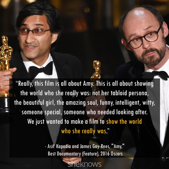 Asif Kapadia and James Gay-Rees Oscars 2016