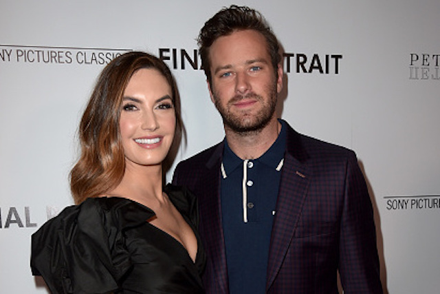 Elizabeth Chambers and Armie Hammer attend the premiere of Sony Pictures Classics' 'Final Portrait'