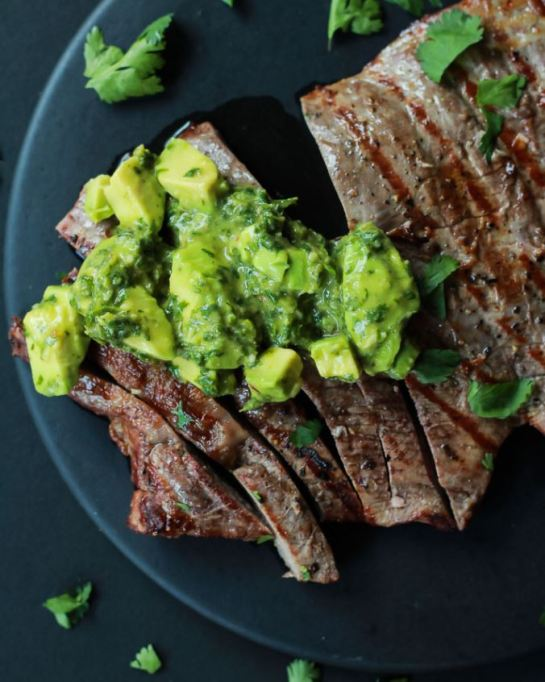 Avocado recipes that don't involve toast: grilled flank steak with avocado chimichurri