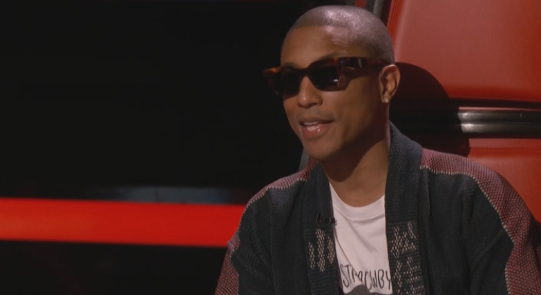 6a58aa4ff132 The Voice  5 Theories as to why Pharrell is always wearing ...