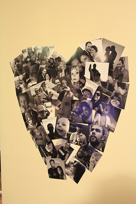 Heart shapped photo collage