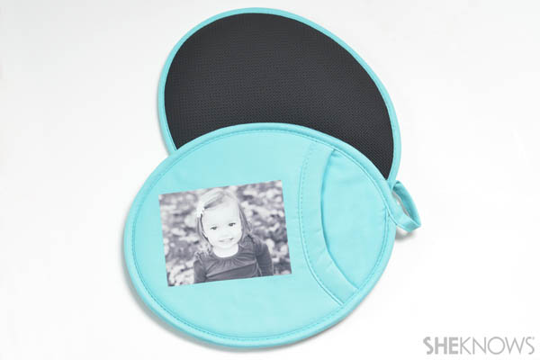 Grandparents Day gift - Photo pot holder
