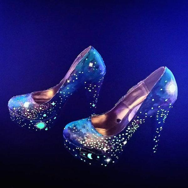 Glowing high heels