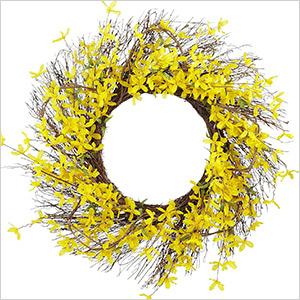 pier one floral wreath