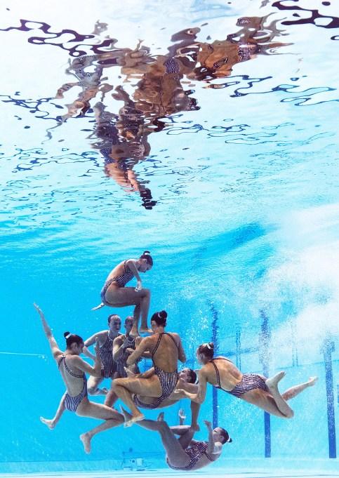 USA synchronized swimming team