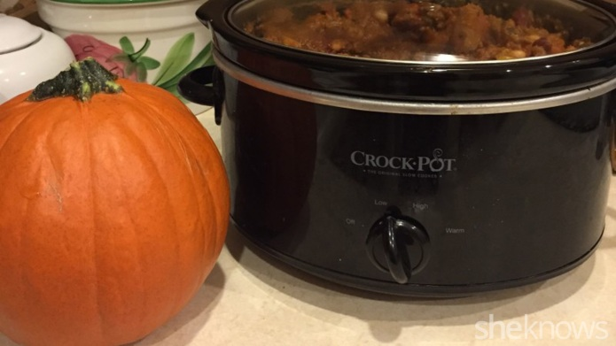 My family's favorite pumpkin chili can