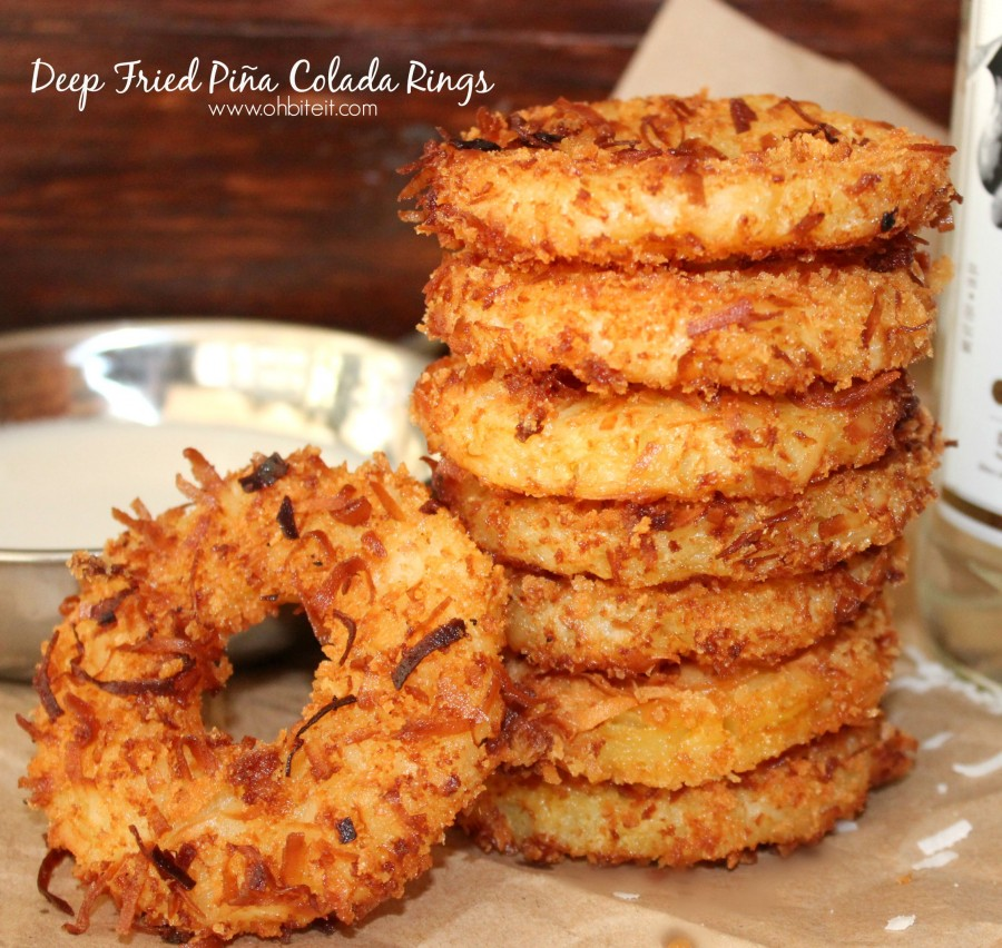 Deep fried pina colada rings