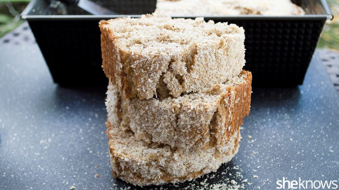Vegan pineapple-coconut loaf is a healthy