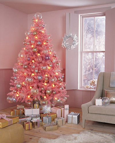Pink and gold tree