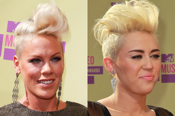 Pink loves Miley Cyrus' hair