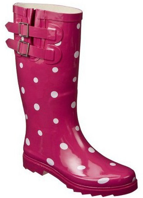 Pink rainboots