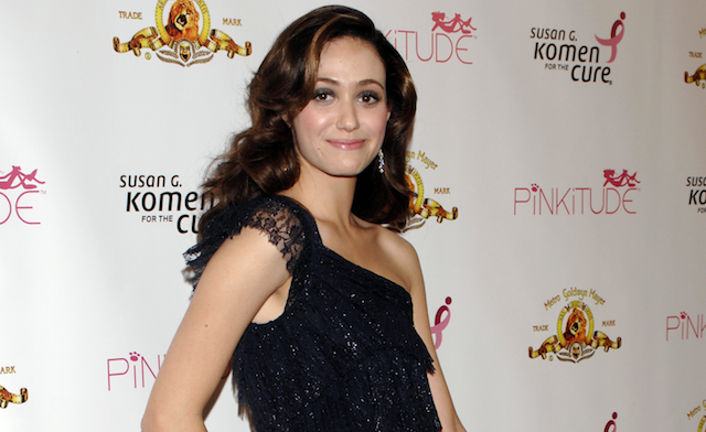 Emmy Rossum at a Pinkitude event
