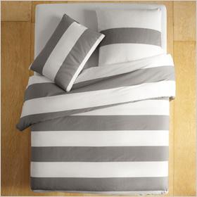 Bold bedding stripes
