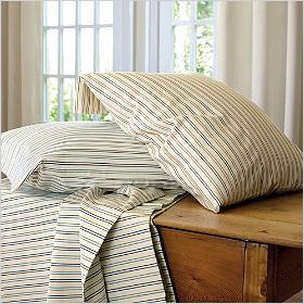 Subtle bedding stripes