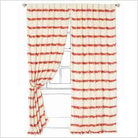 Bold curtain stripes