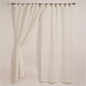 Subtle curtain stripes