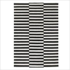 Bold rug stripes