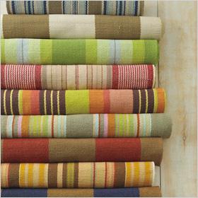 Subtle rug stripes