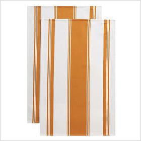 Kitchenette Orange Dishtowels