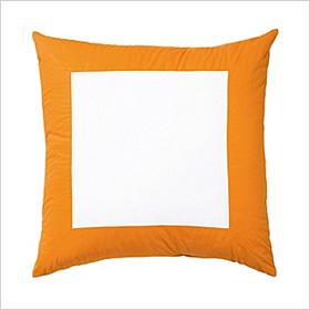 Cantaloupe Color Frame Euro Shams
