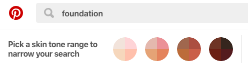 Pinterest's New Inclusive Beauty Feature: Skin tone search