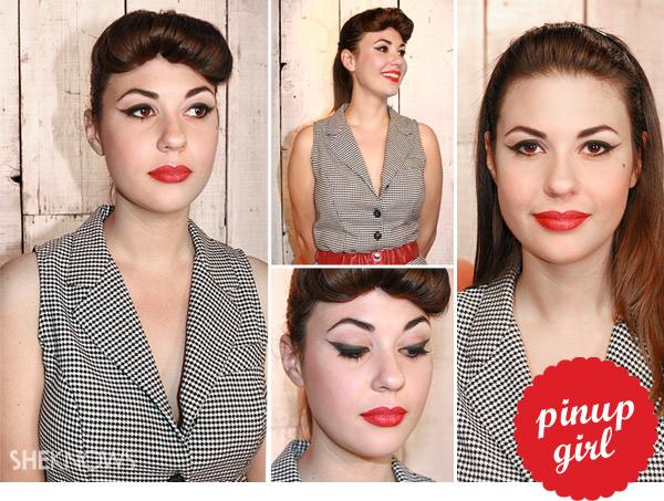 Halloween pinup girl makeup tutorial