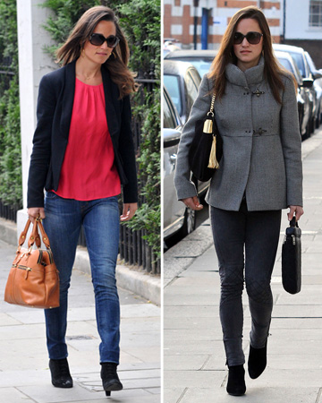 Pippa Middleton wearing jeans to work