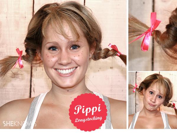 Pippi Longstocking hair tutorial