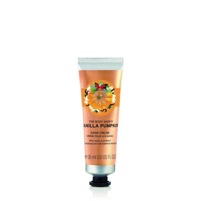 Pumpkin Beauty Products to Buy Now: The Body Shop Vanilla Pumpkin Hand Cream | Fall Beauty 2017