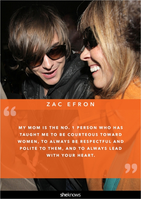 Zac Efron and his mom