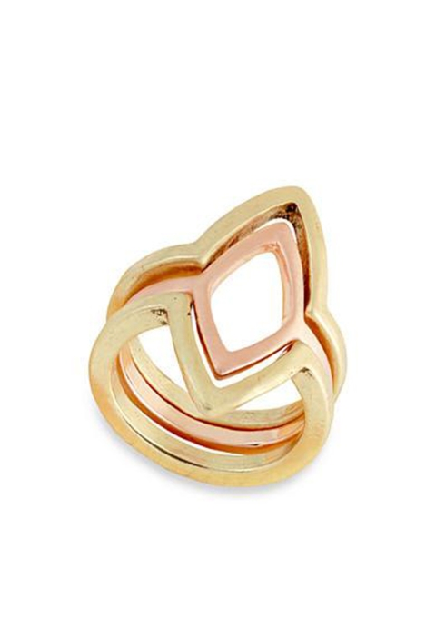 Stackable Rings To Stock Up On: Lucky Brand Two-Tone Petal Stack Ring | Summer Fashion 2017