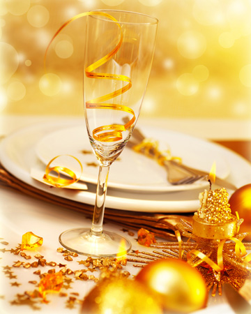 New Year's Eve placesetting at home