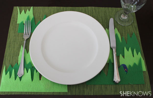 Easter egg placemat: hide your eggs well.