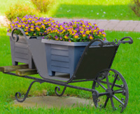 Wheelbarrows or wagons