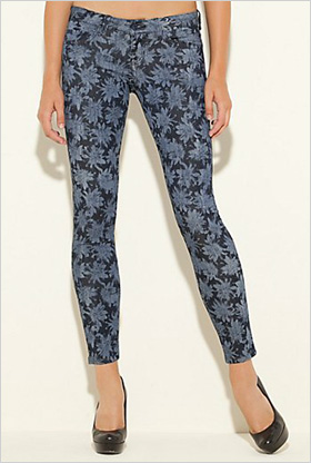 skinny floral jeans by Guess