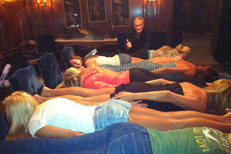 Playboy Playmates planking
