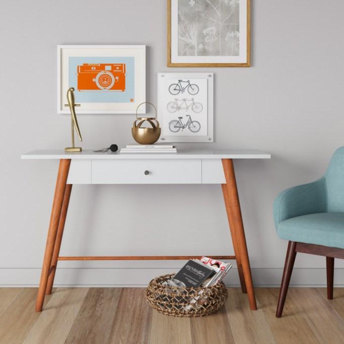 Target Amherst mid-century modern one drawer writing desk