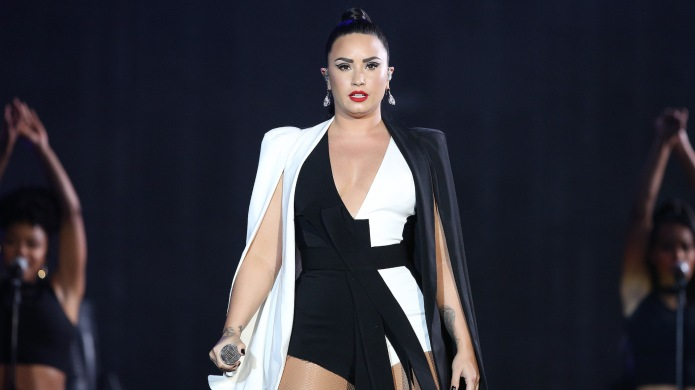 Demi Lovato performs at the Rock