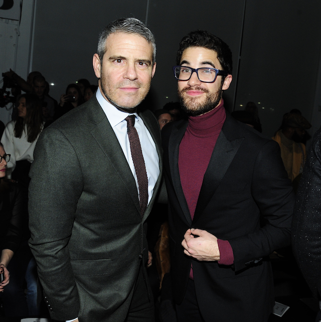 NYFW 2018 Celebrity Sightings: Andy Cohen & Darren Criss