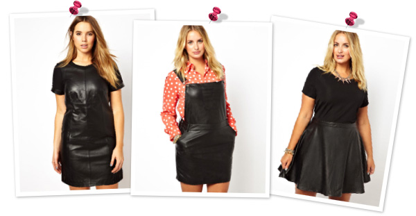 Leather dresses for plus sizes