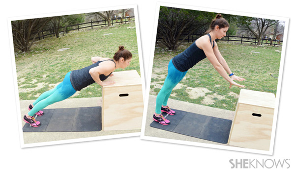 Plyometric pushups