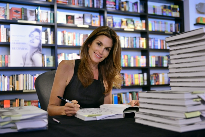 Cindy Crawford at a book signing