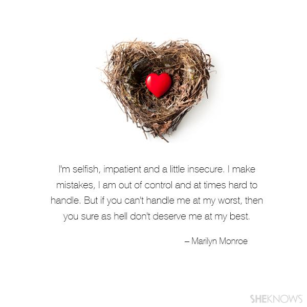 Marilyn Monroe love quote