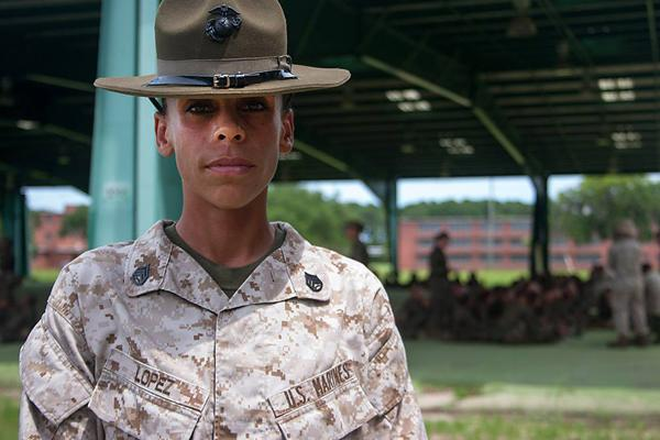 Ma'am, yes, Ma'am! This drill instructor
