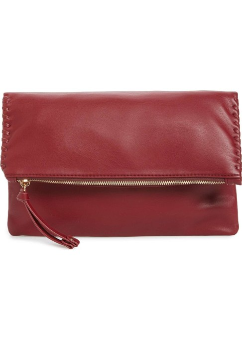 Clutches That Will Actually Hold Your Stuff | Sole Society Rifkie Faux Leather Foldover Clutch